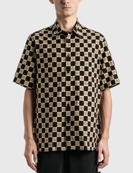 Burberry Chequer Print Cotton Shirt