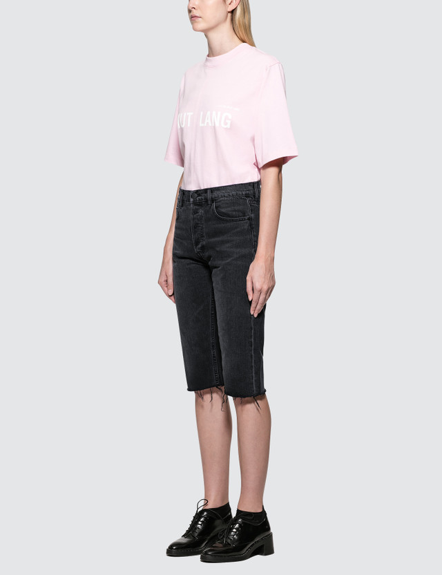 Helmut Lang Cut Off Knee Length Shorts