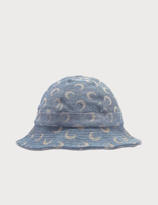 Marine Serre Moon Print Bucket Hat