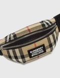 Burberry Vintage Check and Leather Bum Bag Charm Archive Beige Men