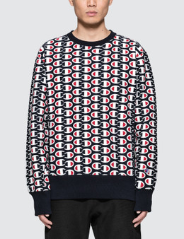 Champion Reverse Weave All Over Print Sweatshirt