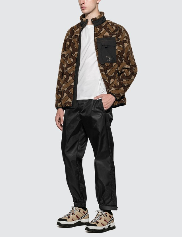 Burberry Monogram Fleece Jacquard Jacket