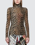 Ganni Printed Mesh Leopard Top Picture