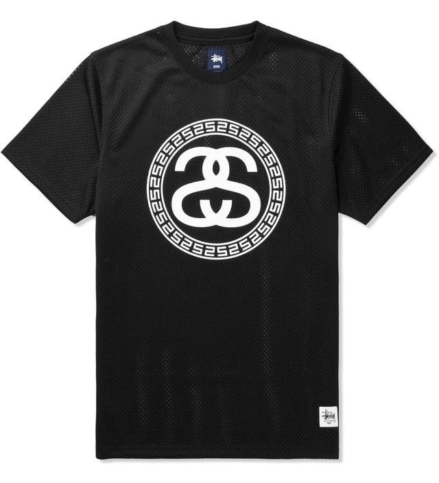 fb4a99330ed824 Stussy - Black Mesh SS T-Shirt