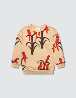 Mini Rodini Allover Parrot Sweatshirt Picutre