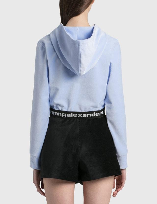 Alexander Wang.T Logo Elastic Hoodie Xenon Blue Women
