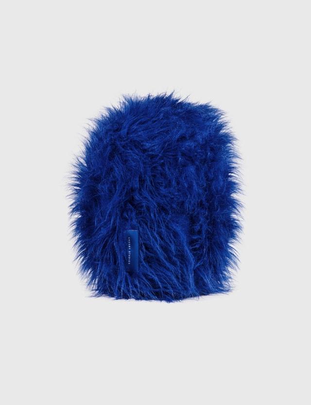 Crosby Studios Blue Furry Pillow