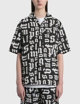Palm Angels Broken Monogram Bowling Shirt