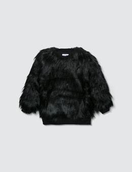 NUNUNU Faux Fur Sweatshirt