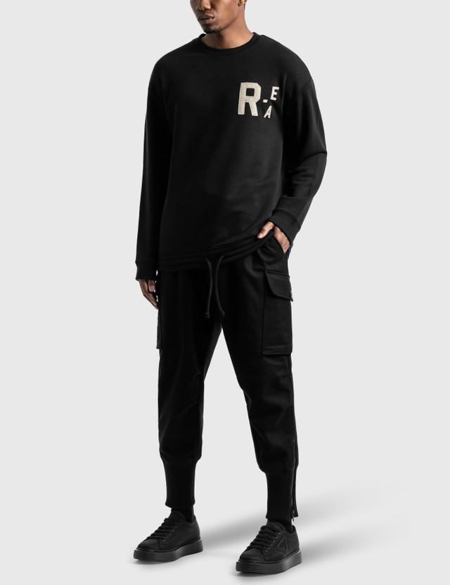 Emporio Armani R-EA Show Basic Sweatshirt Black Men