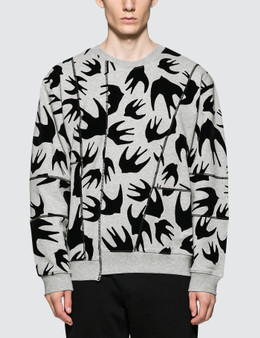 McQ Alexander McQueen Cutup Coverlock Sweatshirt
