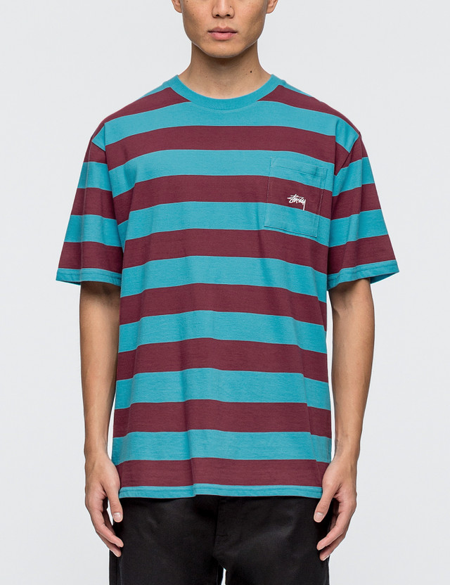 Stussy Range Stripe Pocket T-shirt