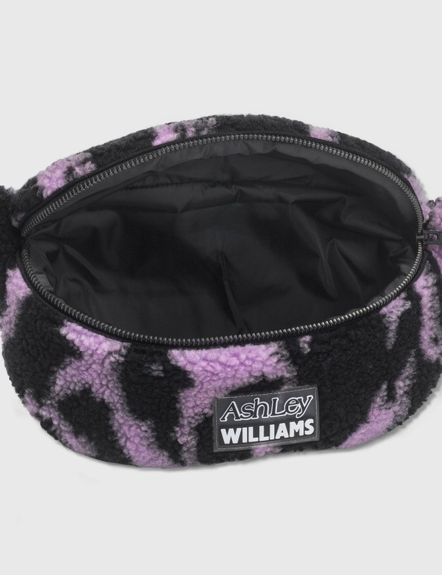 Ashley Williams Animal Print Shearling Belt Bag