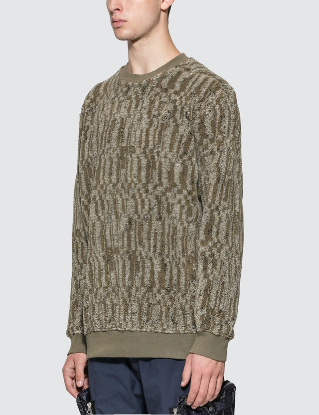 Stone Island Shadow Project Jacquard Cotton Polyester Teddy Sweatshirt