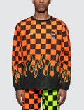 F.C. Real Bristol Checker Flame Piste L/S T-shirt Picutre