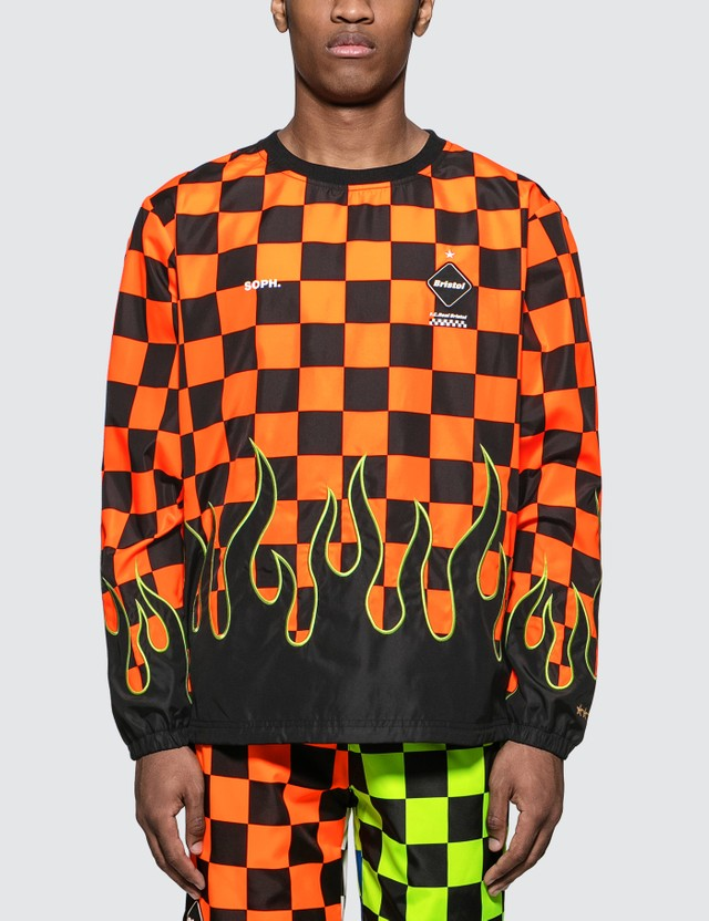 F.C. Real Bristol Checker Flame Piste L/S T-shirt