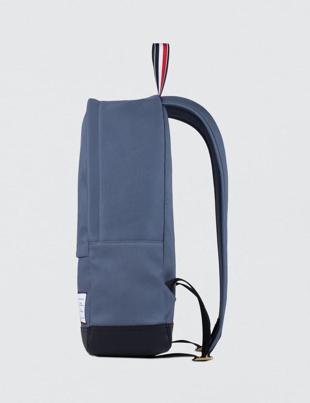8c688648d2 Thom Browne Mackintosh Backpack with RWB Leather Stripe