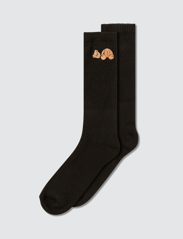 Palm Angels Bear Socks Black Brown Men