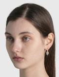 Ambush Small Heart Padlock Earring Silver Women