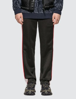 Burberry Mesh Stripe Jersey Tailored Trousers