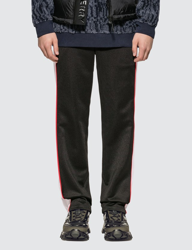 Burberry Mesh Stripe Jersey Tailored Trousers Black Men