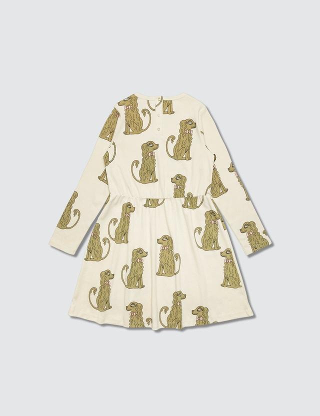 Mini Rodini Spaniel Ls Dress Offwhite Girls