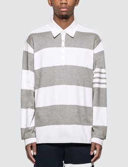 Thom Browne Oversized Rugby Polo Shirt