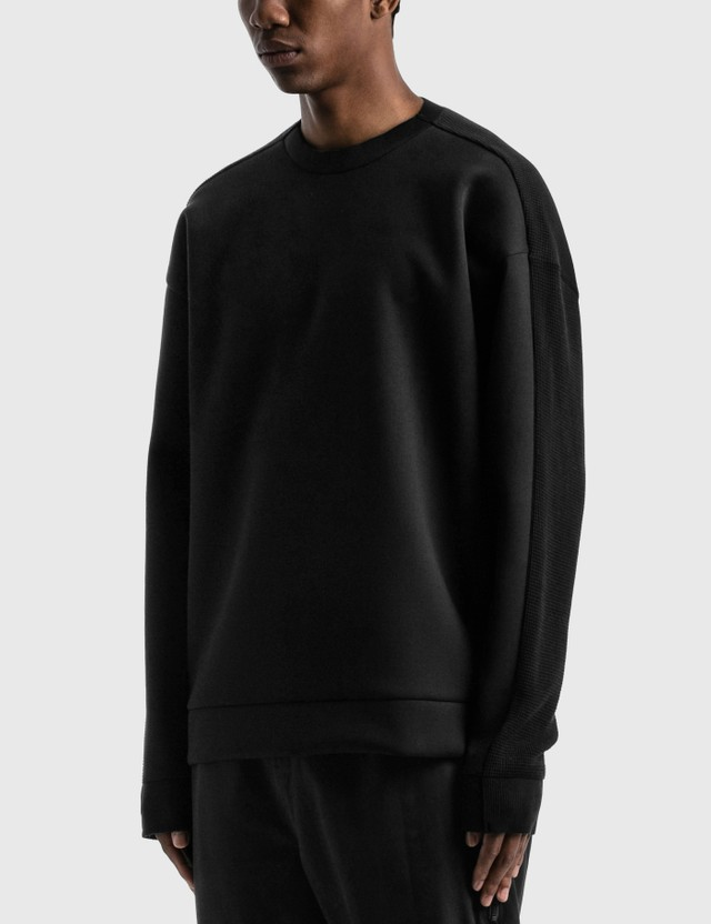 SOPHNET. Fabric Mix Crewneck Knit Grey Men