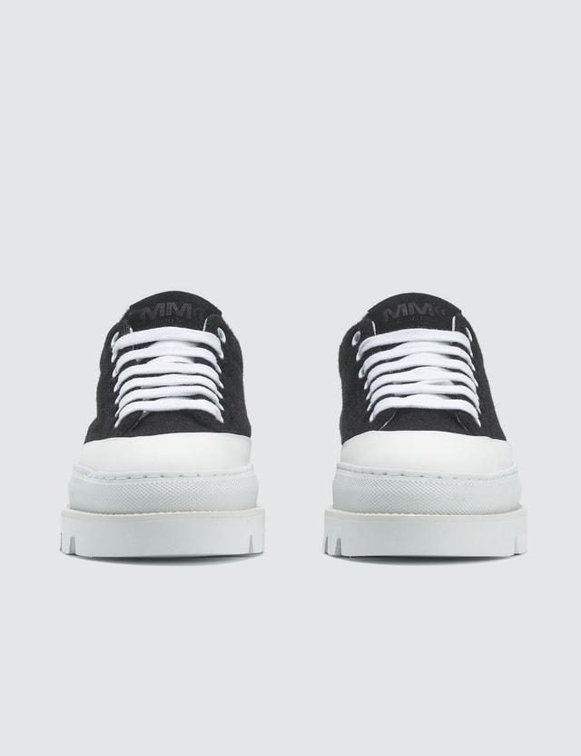 MM6 Maison Margiela Black & White Platform Sneakers