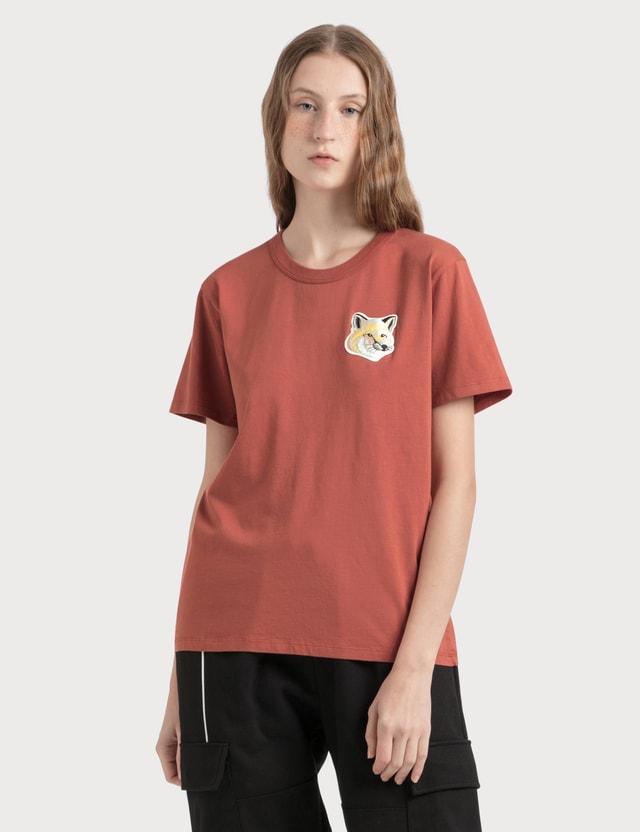 Maison Kitsune Big Pastel Fox Head Patch T-shirt