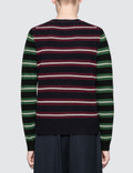 JW Anderson Logo Patch Stripe Jumper Navy Men