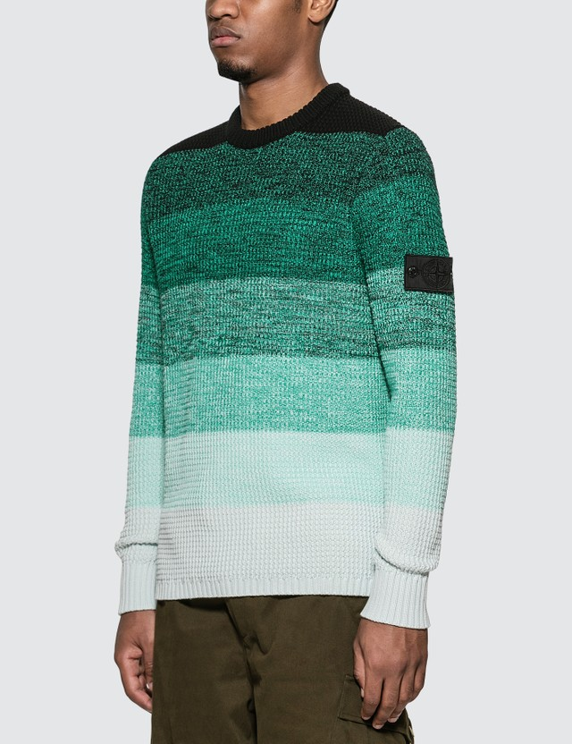 Stone Island Shadow Project Gradient Knit Crewneck Sweater