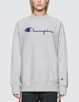Champion Reverse Weave Big Script Oversized Crewneck Sweatshirt