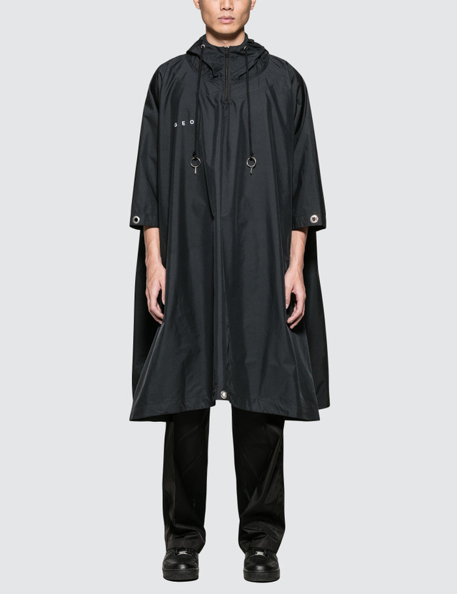 GEO Hanzi Poncho Black Men