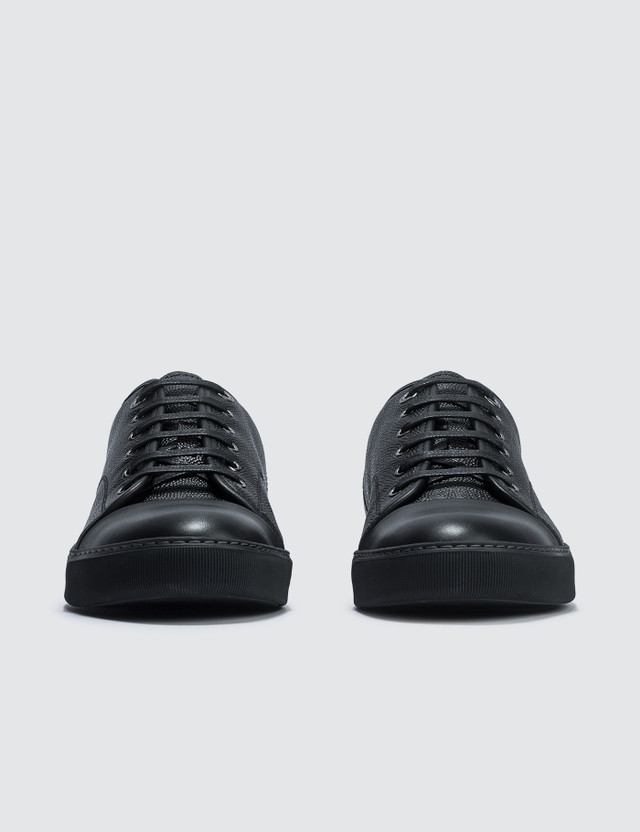 Lanvin Low Top Sneaker Bullskin And Smooth Calf