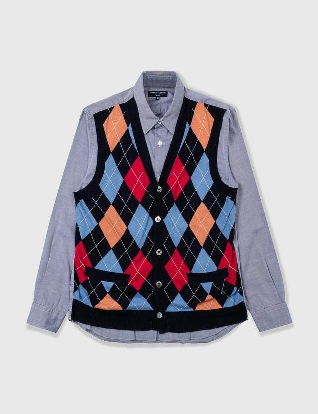 Comme des Garçons Shirt Comme Des Garçons Shirt Knitvest Shirt Blue Archives