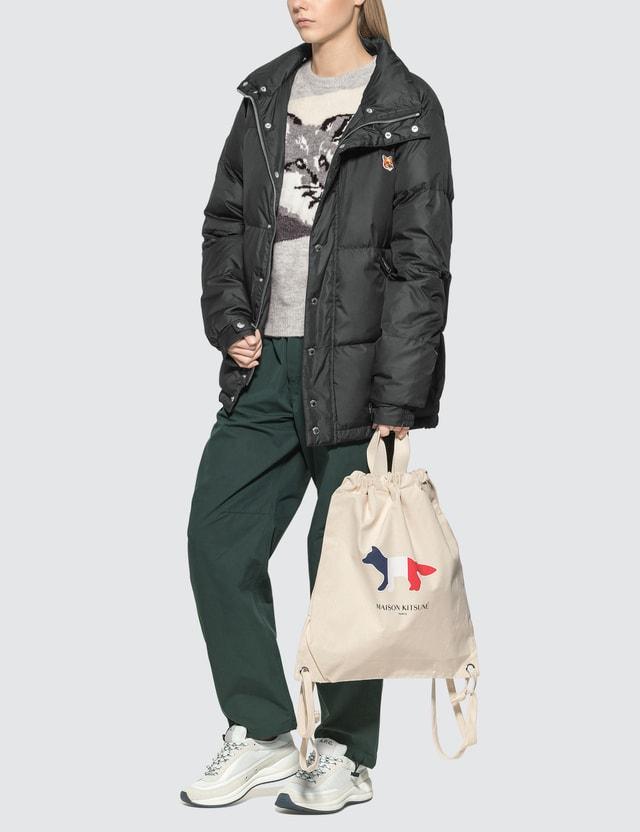 Maison Kitsune Fox Head Patch Down Jacket