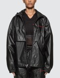 Alexander Wang Chynatown Pleather Nylon Track Jacket Picture