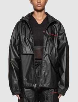 Alexander Wang Chynatown Pleather Nylon Track Jacket