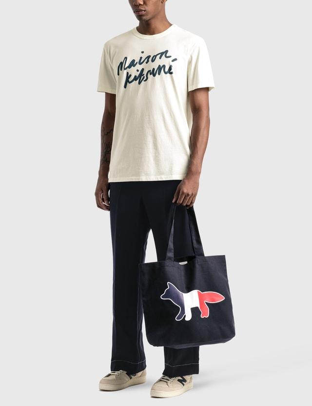 Maison Kitsune Handwriting T-Shirt Latte Men