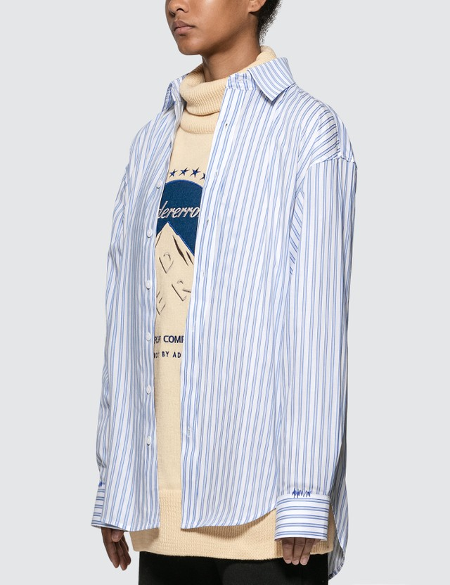 Ader Error Oversized Fit Stripe Shirt