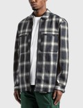 Pleasures Sabbath Plaid Zip Overshirt Blue Men