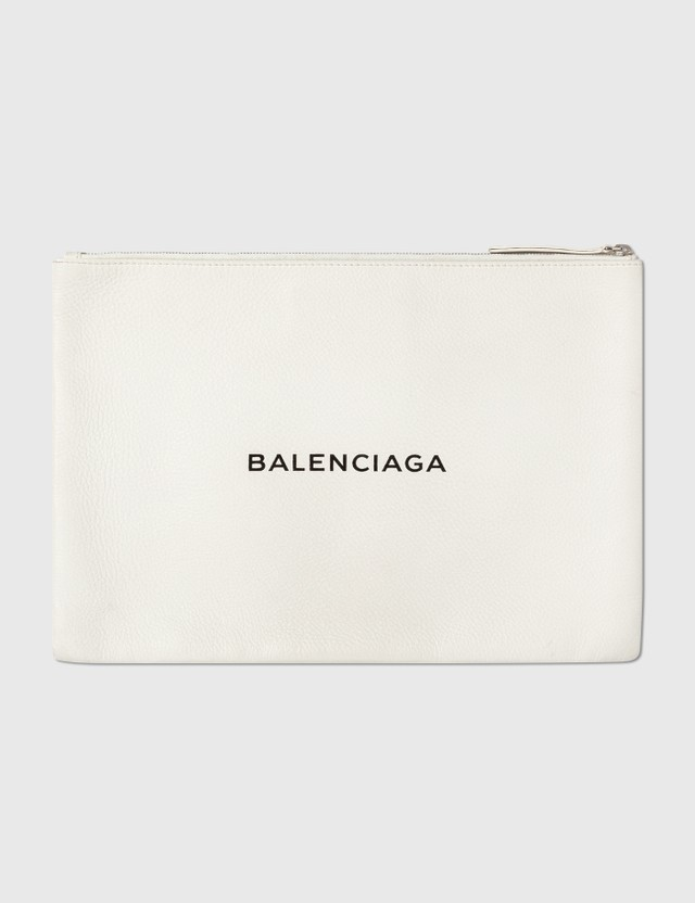 Balenciaga Balenciaga Leather Clutch Offwhite Archives