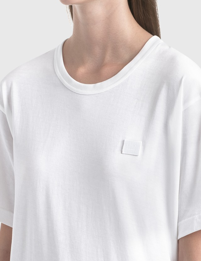 Acne Studios Nash Face T-Shirt Optic White Women