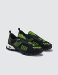 Prada Crossection Knit Sneakers Nero+giallo Fluo Men