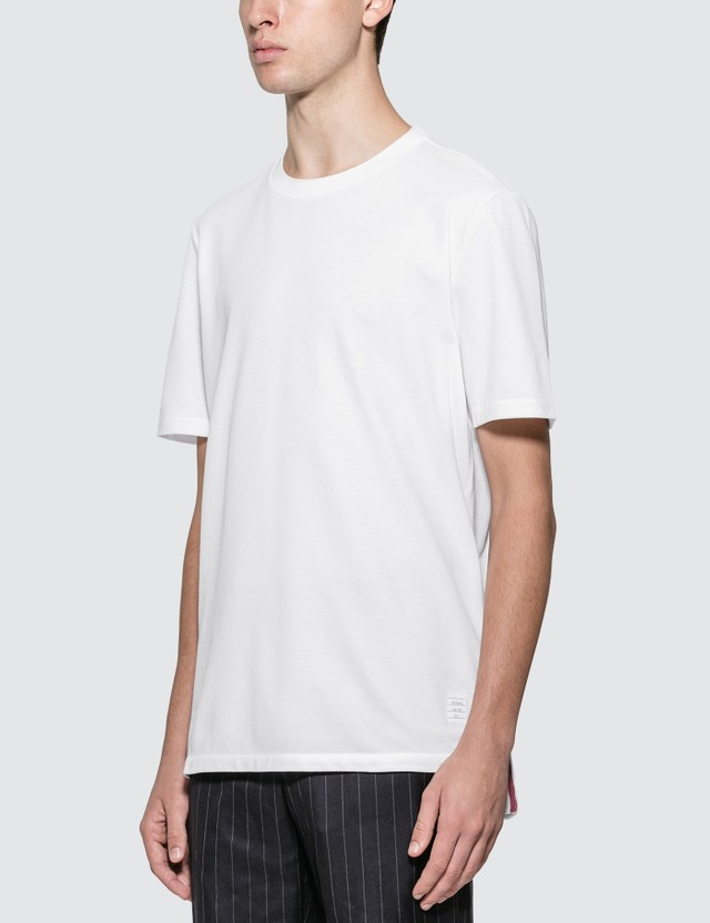 Thom Browne Center Back Stripe Piqué T-shirt