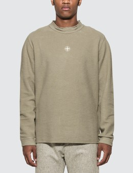Stone Island Logo Fleece Sweatshirt
