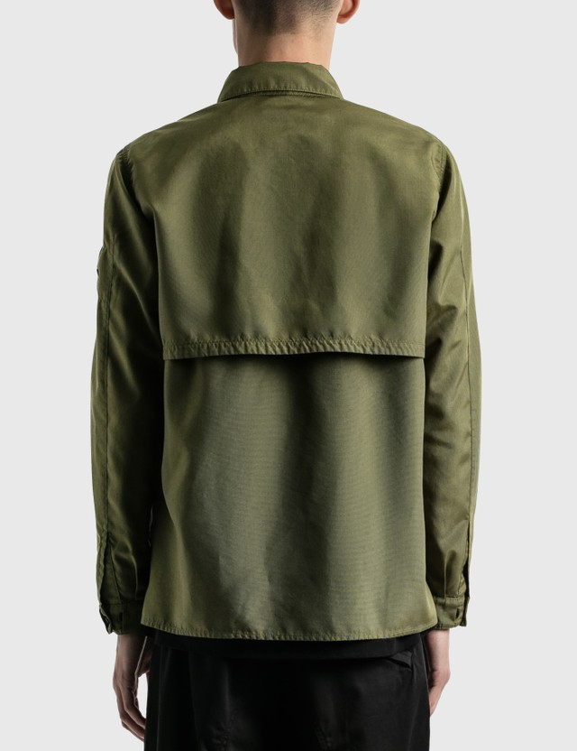 Stone Island Shadow Project Vented Overshirt Olive Men