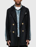 Sacai Wool Melton x Denim Coat Picutre