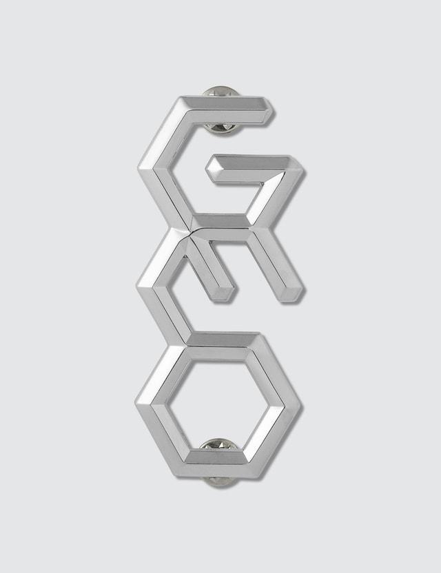 GEO 3D Pin Silver Men